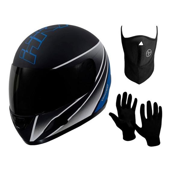 Casco Moto Integral Vertigo Hk7 + Mascara + Guantes - Sti