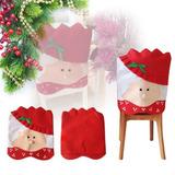 Funda Navideña Para Silla Con Diseño De Sra. Santa Claus