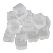 Hielos Plásticos Cubitos Reutilizables X 10 Transparentes