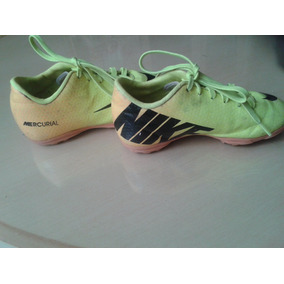Zapatos Sala Nike Mercurial Fútbol Amarillo Negro 27 Usados