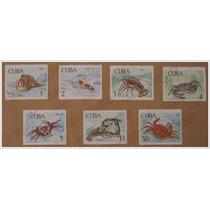 Colección 7 Timbres Postales- Cangrejos Crustáceos - Cuba 69