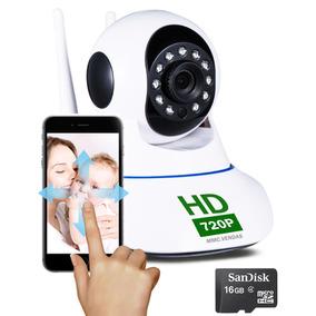 Kit Camera Ip Wifi Noturna Audio P2p Cartão Sd Infinita 16gb