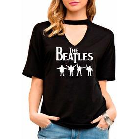 Blusa Feminina Choker The Beatles