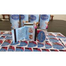 Frozen Tarjeta Invitacion Cumpleaños Con Cierre Imantado X10