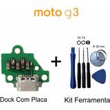 Carregador Dock Com Placa Moto G3 + Jogo De Ferramenta