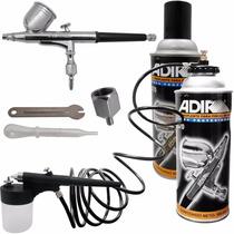 Kit Aerografo Portatil 1 Aerografo 2 Gas Propelente Diseño