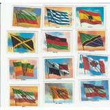 12 Estampas De Plástico Banderas Del Mundo Marinela 70s
