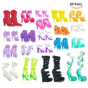 Asiv 60 Pares De Diferentes Zapatos De Tacón Alto Botas Acc