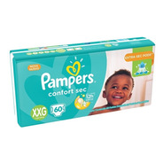 Pampers Confort Sec Xxg 56 Pañales X 3 Paquetes
