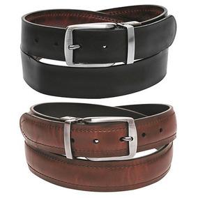 Cinturon De Piel Doble Vista Muy Bonito Para Caballero