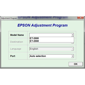 Reset Epson Et2500, Et2550
