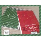 10 Anotadores Personalizado Futbol Cancha 20 Hojas Souvenir