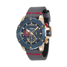 Relógio Masculino Seculus Cronógrafo Azul 13017gpsvlc3