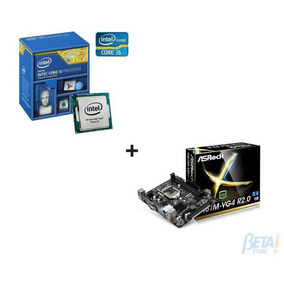 Kit Placa Mae H81m-vg4 Asrock + Proc I5 4460box 1150