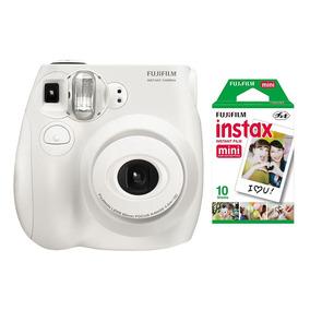 Câmera Instantânea Fujifilm Instax Mini 7s Branca + 10 Fotos