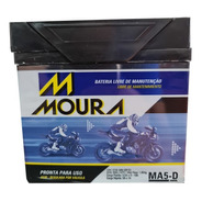 Bateria Moto Moura 5ah Honda 125/150 Biz/fan/cg/bros/esd