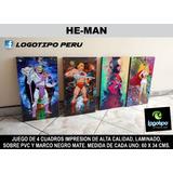 Venta De 4 Cuadros De He-man, Skeletor, She-ra Y Orko