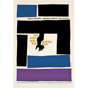 Cuadro Poster Saul Bass The Man With Golden Arm 60 X 90 Cm