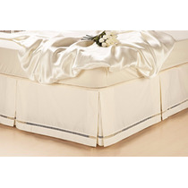 Saia Lençol Box P/cama Casal Padrão Percal Branca