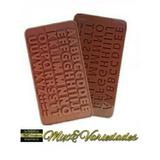 Kit Com 2 Moldes De Silicone Alfabeto E Números P/ Chocolate