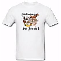 Camiseta Animais Rurais Cachorro Gato Labrador Golden