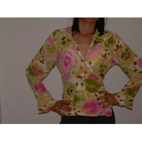 Blusa Estampada Para Mujer En Seda