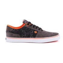 Zapatillas C1rca Lamb Gris Y Naranja Stone Urbanas Skate