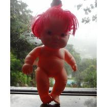 Boneca De Vinil - Bebe -marca Cotiplas=cabelo Vermelho