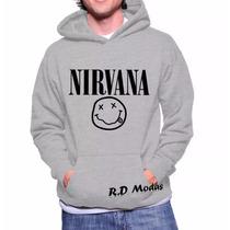Moletom Nirvana Banda Musica Blusa De Frio - Mega Promoção!