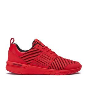 Zapatilla Supra Scissor Red Textile & Synthetic - Roja