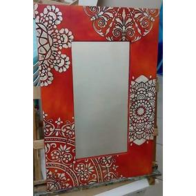 Espejos Pintados De Madera