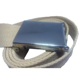 Cinturon Nautico De Sarga Niquelado Con Destapador Oculto
