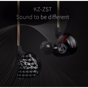 Kz Zst Fone De Ouvido Preto Monitor Retorno Com Microfone