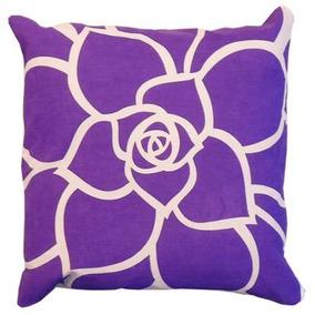 Almohadón Estampado Flores Violeta V.h Fabrics