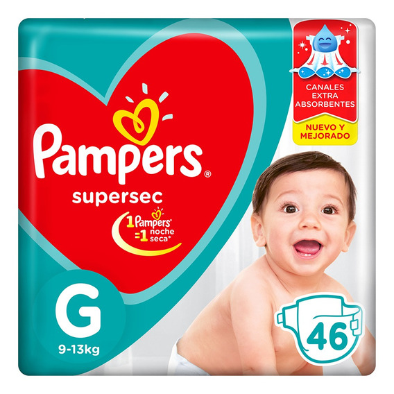 Pa?ales Pampers Supersec - Ver Talles