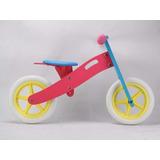 Bicicleta De Madera Balance Y Aprendizaje + Protecciones