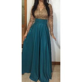 Elegante Vestido De Fiesta Largo Importado