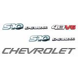 Emblemas S10 Deluxe 4.3 V6 + Faixa Preta - Até 2000