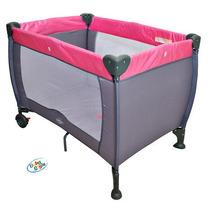 Berço Compacto Rosa Baby Style (novo C/ Garantia)
