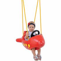 Balanço Infantil Avião Vermelho Xalingo