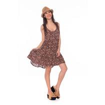 Vestido Corto Estampado Verano Octanos - Flores