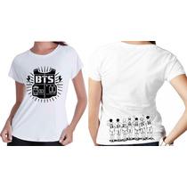 Camisetas Kpop Personalizada Banda Grupo Bts Frente E Verso