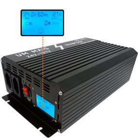 Inversor Conversor Senoidal Pura 1000w 24v 110v Lcd Digital