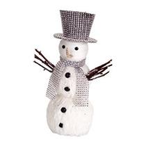 Decoración Conjunto De 4 Muñeco De Nieve Con Bufanda De Len
