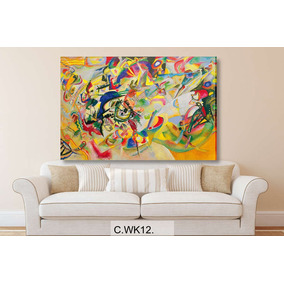Cuadro De Kandinsky Bastidor- Lienzo Canvas - 120x80cm