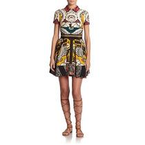 Vestido Seda Estampada 40 / 42 - Pronta Entrega No Brasil