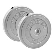 Sol Fitness 10 Kg En Discos Pesas Diámetro 30mm (2x5 Kg C/u)