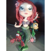 La Sirenita En Porcelana Fria!!