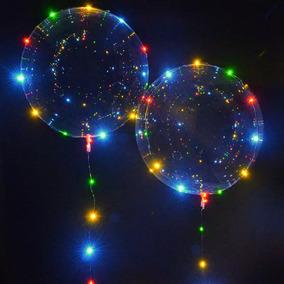 Balão Bubble Transparente Luz Led Festa Casamento C/05 Un.