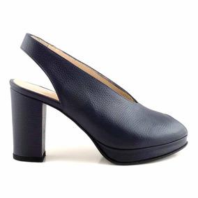 Zapato De Mujer Cuero Briganti Suela Plataforma - Mccz03462